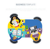 Business negotiations. View from above. Stock Photos