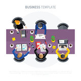 Business negotiations. View from above. Royalty Free Stock Photo