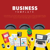 Business negotiations. View from above. Royalty Free Stock Photography