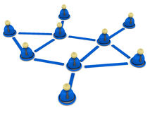 Business network. Network of business men in blue, concept of business networking Stock Photos
