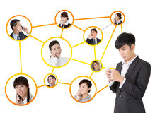 Business network Stock Image