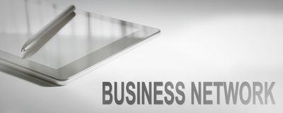 BUSINESS NETWORK Business Concept Digital Technology. Graphic Co stock photos