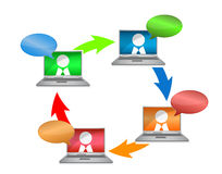 Business network communication concept Stock Image