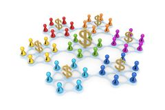 Business network concept. On white background.3d rendered Royalty Free Stock Image