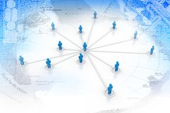 Business network concept Stock Images