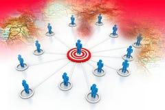 Business network concept Stock Photos