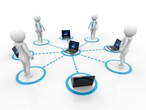 Business Network Concept. 3d render. 3d rendering business network concept in white background Stock Photo