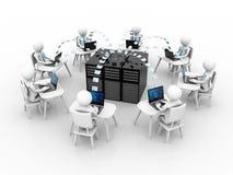 Business Network Concept. 3d render. 3d rendering business network concept in white background Stock Images