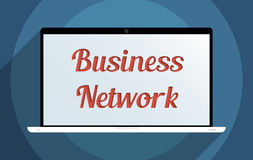 Business network. Concept for business network, e-commerce and globalization. Flat design illustration Stock Photo