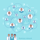 Business network. Concept illustration of management, organizati Stock Photo