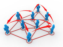 Business network concept Stock Photo