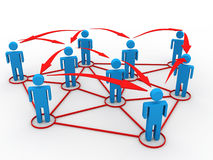 Business network concept Stock Photography