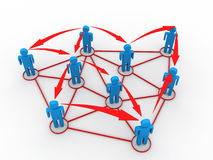 Business network concept Stock Image