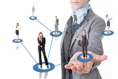 Business network Stock Images