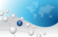 Business network connection links. Illustration design over a blue background vector illustration