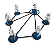 Business network. Corporate structure. Royalty Free Stock Image