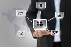 Business network diagram Stock Photos