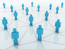 Business network graph Stock Image