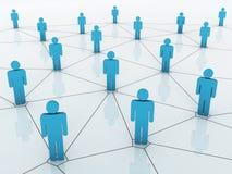 Business network graph stock illustration