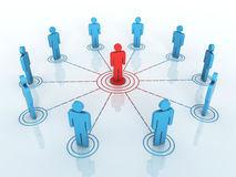 Business network graph Stock Images