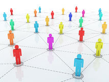 Business network graph Stock Photo