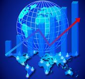 Business network. Illustration of concept business network Royalty Free Stock Photo