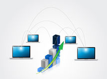 Business network illustration design Royalty Free Stock Photography