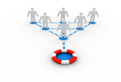 Business network and life buoy Royalty Free Stock Photos
