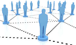Business network man 3d Royalty Free Stock Photos