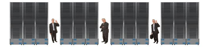 Business Network Of Servers Royalty Free Stock Photography
