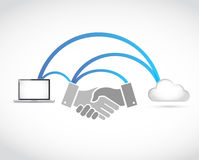 business network technology handshake concept Royalty Free Stock Images