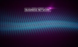 Business network technology. Internet growth and technology network. Abstact connection polygonal elements. Business network technology. Internet growth and royalty free illustration