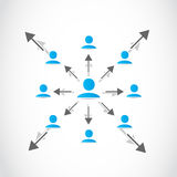 Business networked crowd Royalty Free Stock Photography