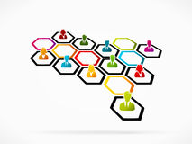 Business networking royalty free illustration