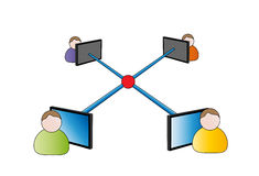 Business networking icon Royalty Free Stock Photography