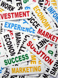 Business new headlines. Close up of  business new headlines Royalty Free Stock Photography