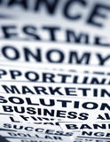 Business new headlines. Close up of  business new headlines Stock Image