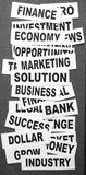 Business new headlines. Close up of  business new headlines Royalty Free Stock Images