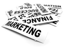 Business new headlines. Close up of business new headlines Royalty Free Stock Image