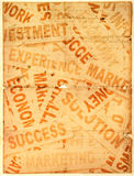 Business new headlines with old paper. Close up of  business new headlines with old paper Royalty Free Stock Images