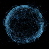 Business, new technology and virtual sphere globe Stock Photos
