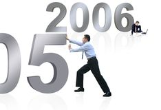 Business new year - good bye 2005 Royalty Free Stock Images