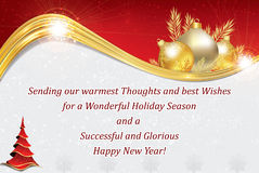 Business New Year greeting card Stock Image