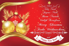 Business New Year greeting card in many languages Royalty Free Stock Photography