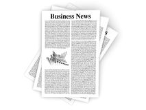 Business News. Looking for the latest business news. 3d rendered Illustration. Isolated on white Stock Images