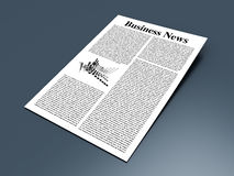 Business News. Looking for the latest business news. 3d rendered Illustration Royalty Free Stock Image