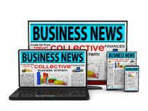 Business news Photographie stock libre de droits