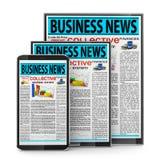 Business news Image libre de droits