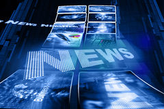 Business news illustration stock