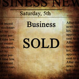 Business news Stock Image